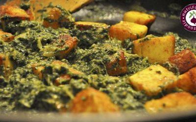 Spinach Paneer Curry (Palak Paneer) w/ Garam Masala Recipe