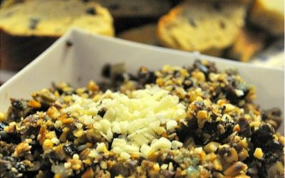 Mixed Olive and Pine Nut Tapenade with Olive Bread