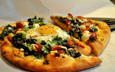 Pesto Breakfast Pizza with Sun Dried Tomatoes: Mother's Day