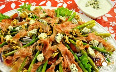 Asparagus, Prosciutto and Blue Cheese Salad (Low-Fat version)