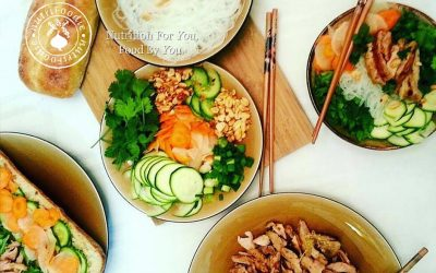 Vietnamese Banh Mi and Rice Noodle Bowl