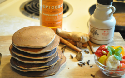 Pumpkin Spice Whiskey Pancakes