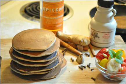 Pumpkin Spice Whiskey Pancakes