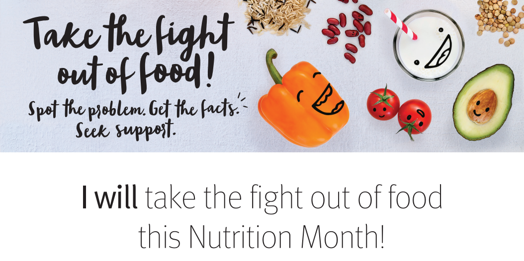 Take the Fight Out of Food: Nutrition Month