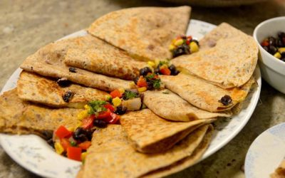 Black Bean and Corn Quesadillas (ready in under 10 minutes)