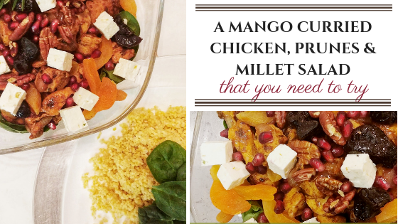 Mango Curried Chicken, Prunes & Millet Warm Salad